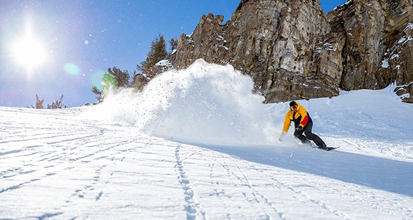 Jeremy Jenson ripping the JHMR backcountry on his Grassroots Powdersurfer Photo Grassroots