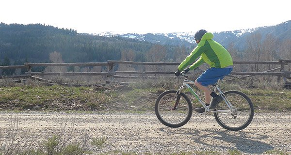 Mike Hardaker riding in the Outdoor Research Cathode Jacket Photo Mountain Weekly News