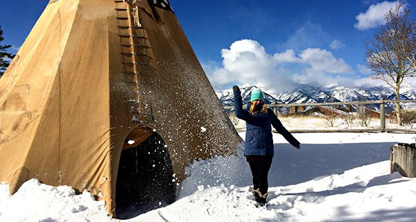 Steph rocking the Roxy Torah Bright Crystalized Snowboard Jacket high atop the Tetons Photo | Mountain Weekly News