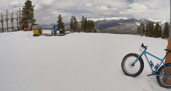 Surly Ice Cream Truck Fat Bike atop Vail Mountain Photo Ricardo Moreno | Mountain Weekly News