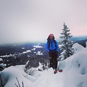 Michelle about to get rad in her Stio Jacket | Photo Mountain Weekly News