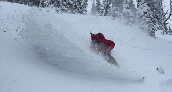 Tyler getting pitted in BC on the Olive Exodus Splitboard Photo | Mountain Weekly News