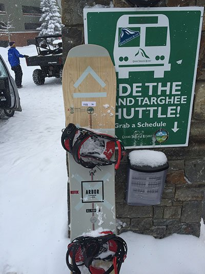Sometimes we ride lifts and when we do its Arbor boards and Grand Targhee Resort, Photo Ryan Ariano | Mountain Weekly News