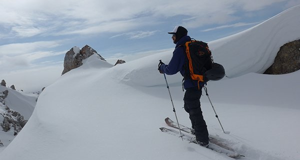 Mike touring in the Colltex Extreme Skin, Photo Travis Young | Mountain Weekly News