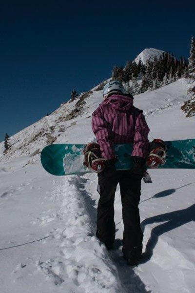 Susan Hiking at Wolf Creek, Photo | Mountain Weekly News