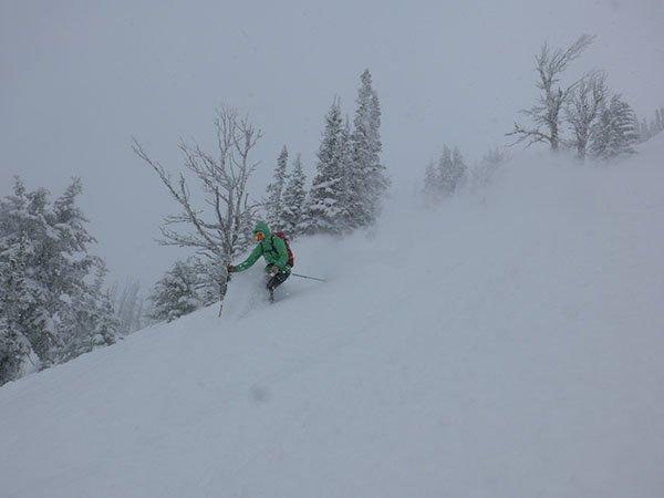 Ladies around here ski way better than you and Jake.. Photo Mike Hardaker | Mountain Weekly News