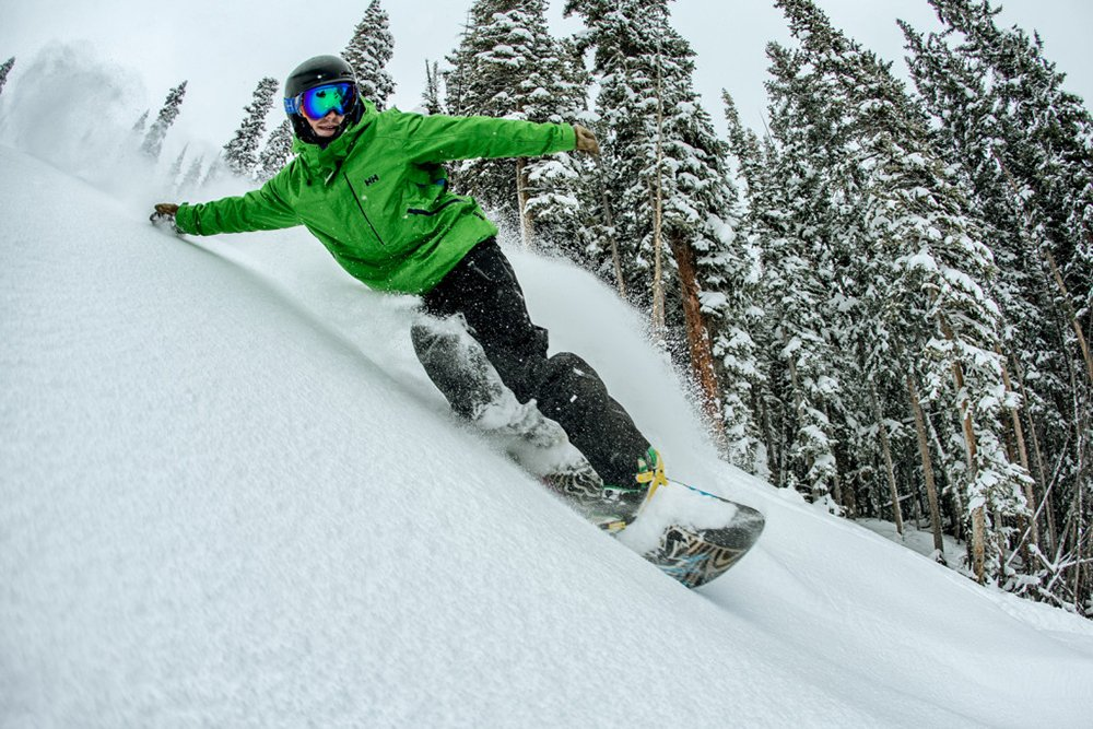 Learning to Snowboard in Deep Powder Snow