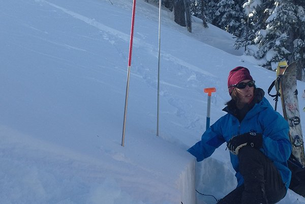 Lauren staying safe in the Outdoor Research Maximus Jacket, Photo | Mountain Weekly News