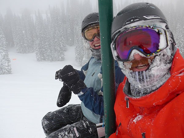 smiles and pow, common sightings at Grand Targhee Resort in Alta, WY