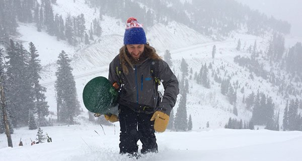 Hunter in the Stio Snotel Jacket atop Teton Pass Photo | Mountain Weekly News