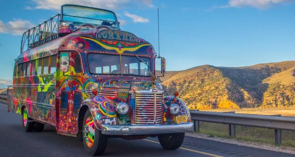 The bus came by and I got on That's when it all began.. Photo http://goingfurthur.com