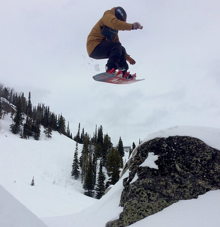 Jonah sending it on the Arbor Westmark Rocker Photo Lauren Dangles | Mountain Weekly News