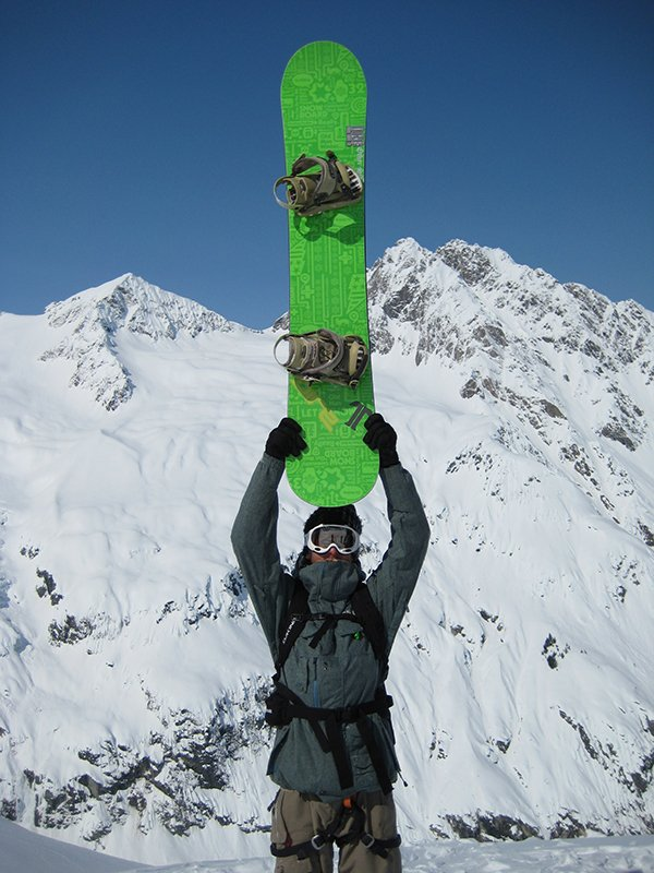 I sure dug riding this SNOWBOARD Mag Unity Coab in Haines, Photo Donnie Holtine | Mountain Weekly News