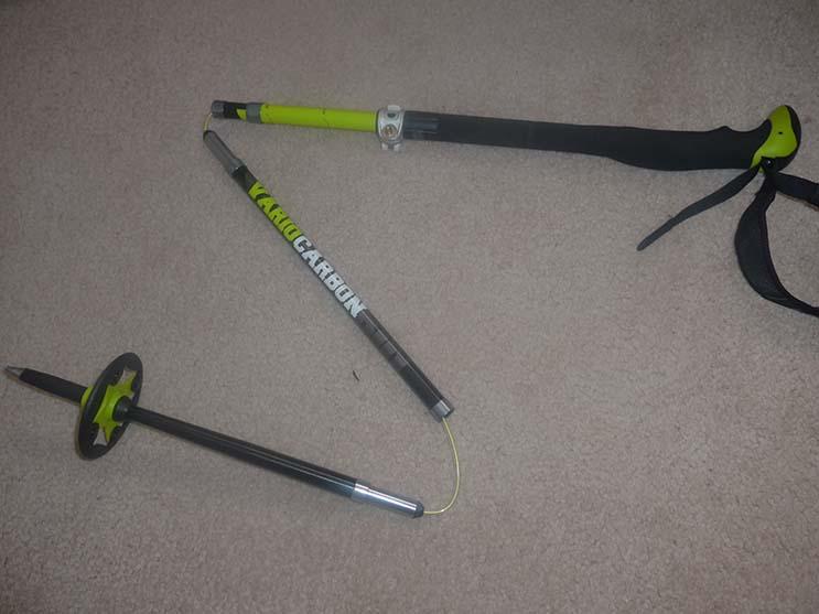 LEKI Tour Stick Vario Carbon Splitboard Pole Collapsed Photo Mike Hardaker   Mountain Weekly News