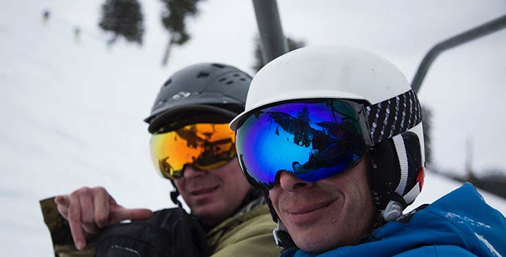 Theses dudes are stoked on thier Incline Goggles, Photo Paisley Wildman | Mountain Weekly News