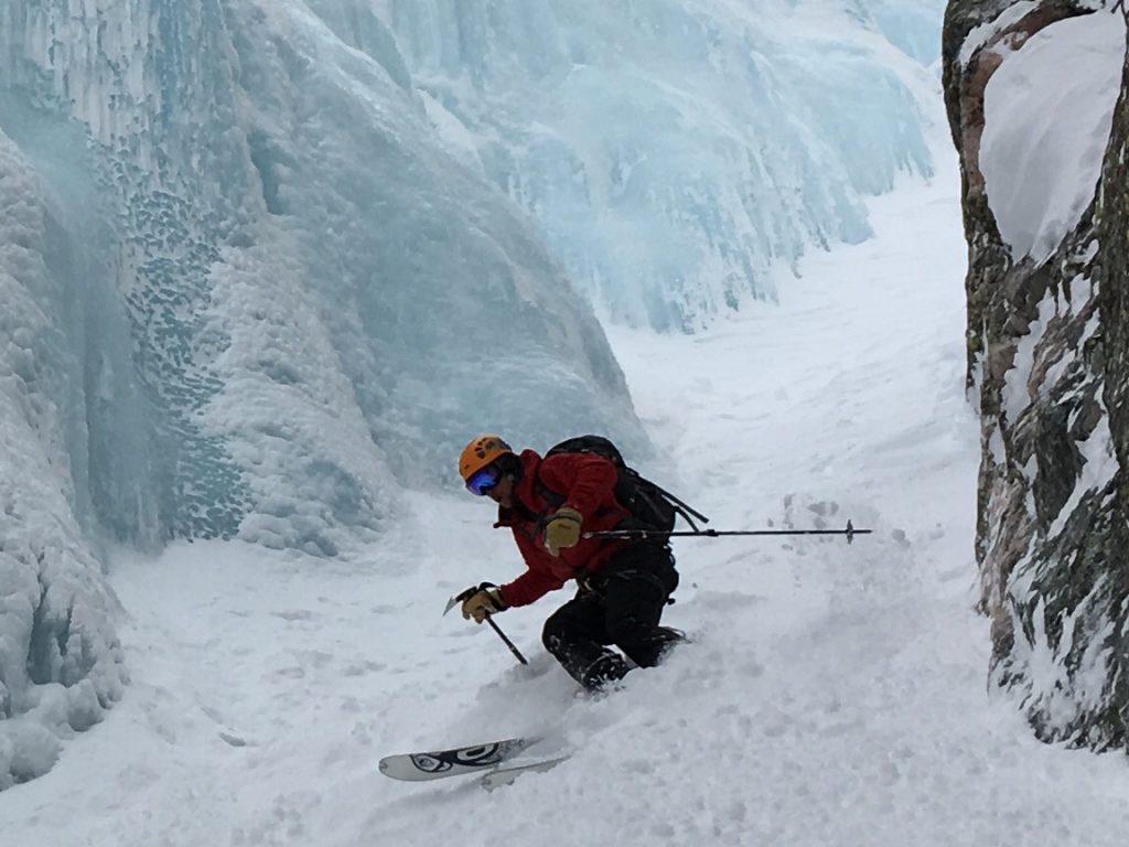 Skiing with Black Diamond Whippet Ski Pole