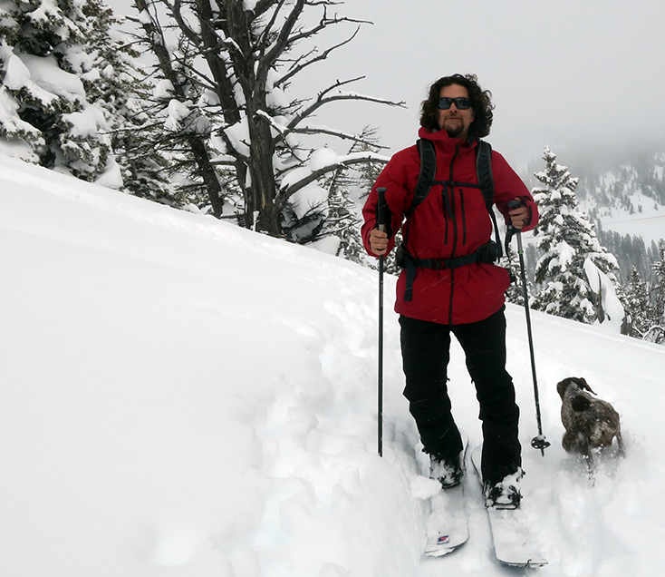 James Biesty Splitboarding Teton Pass
