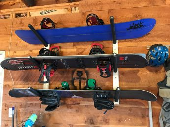 Wood Snowboard Rack from Store Your Board