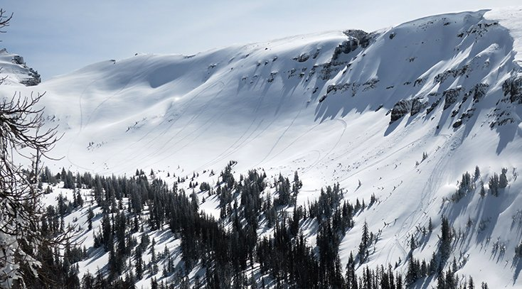 Snowmobiling Togwotee Pass Radio Tower Couloir