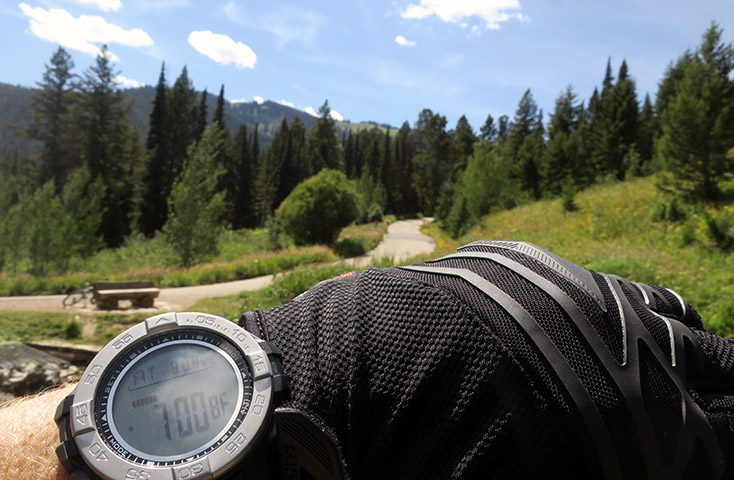 Armitron adventure 39 s digital altimeter watch is designed for the mountains for Adventure watches