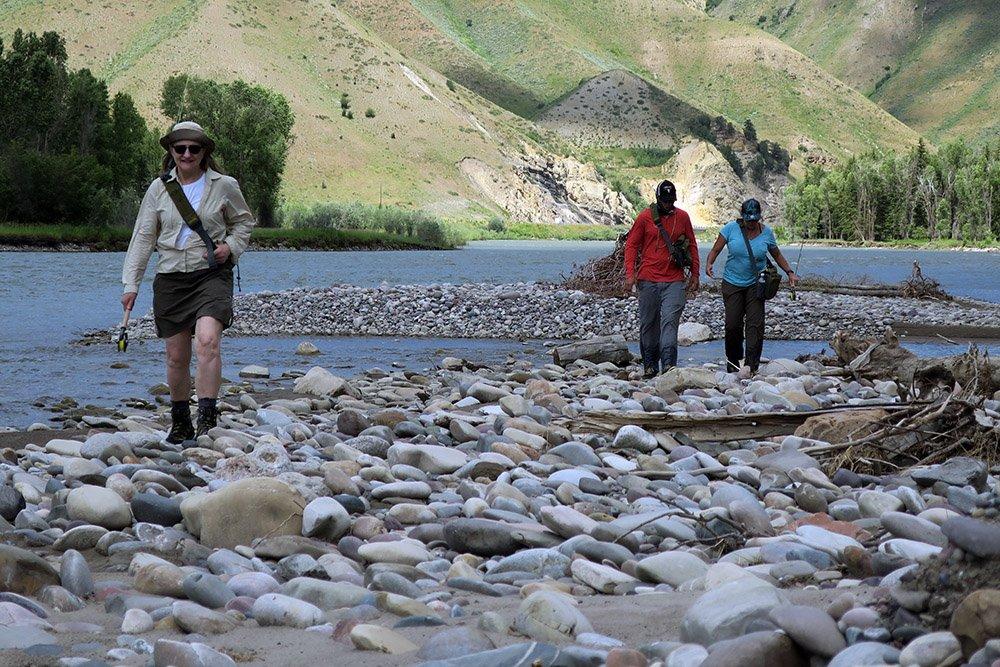 Walking Snake River Jackson Hole Wyoming Wading