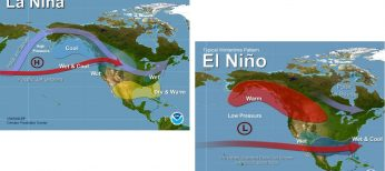 La Niña conditions are predicted to continue (~65%-75% chance) at least through the Northern Hemisphere winter 2017-18.
