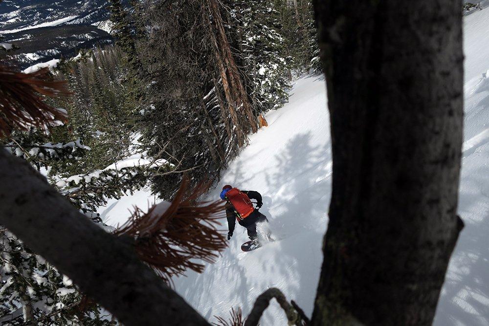 Mike Hardaker Snowboarding Never Summer Swift Splitboard