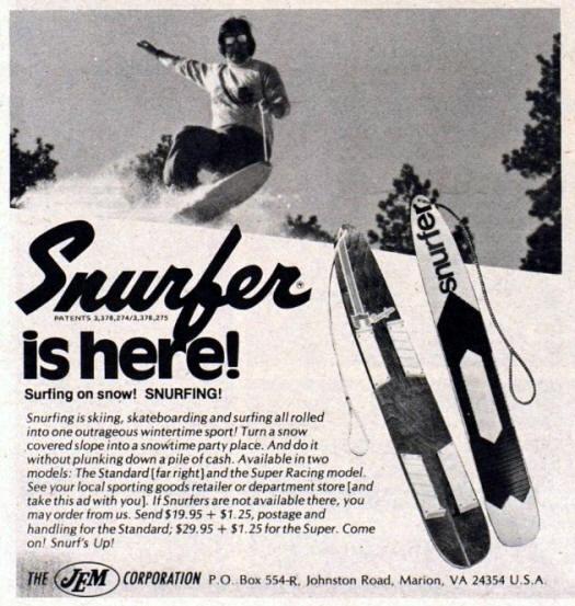 Snurfer Snowboard Ad
