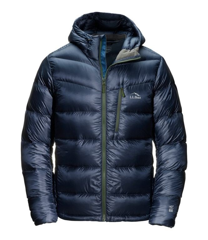 LL Bean Men's Ultralight 850 Down Big Baffle Hooded Puffer Jacket
