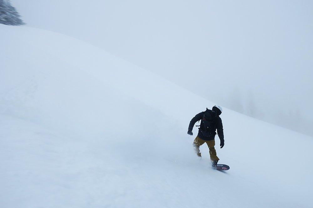 Snowboarding Teton Pass Backcountry