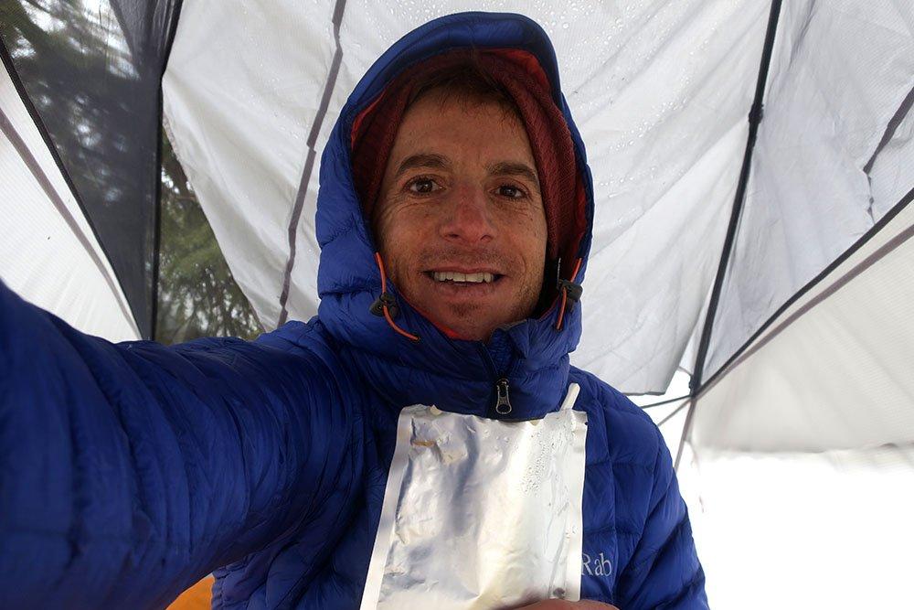 Mike Hardaker Inside Kelty Tent