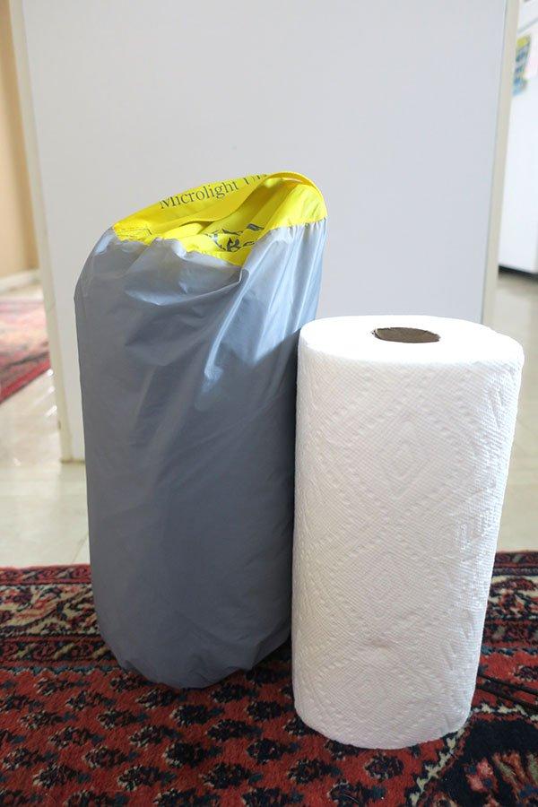 Tent Paper Towel Size Comparison
