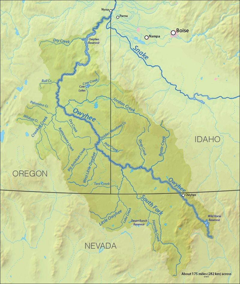 Owyhee Map