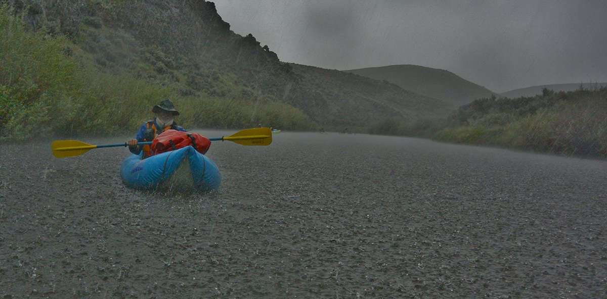 Kayaking in Rain