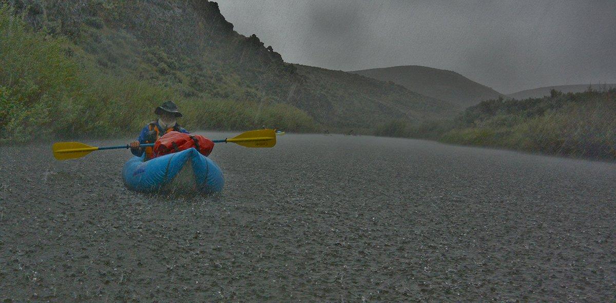 Kayaking in Rain