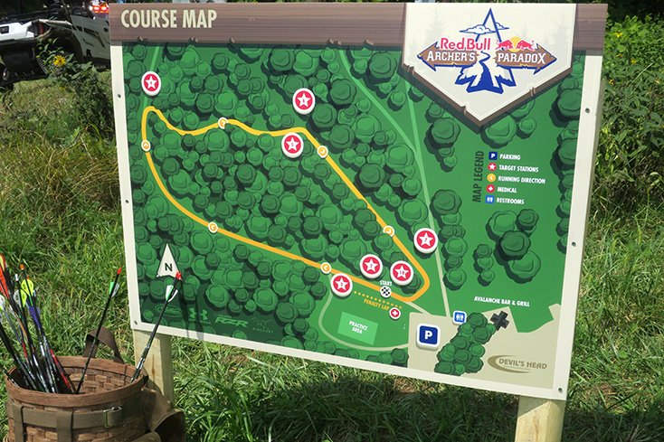 2018 Red Bull Archers Paradox Course Map