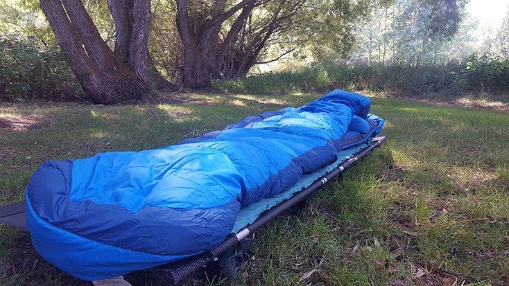 Big Agnes Helinox Cot & Sleeping Bag