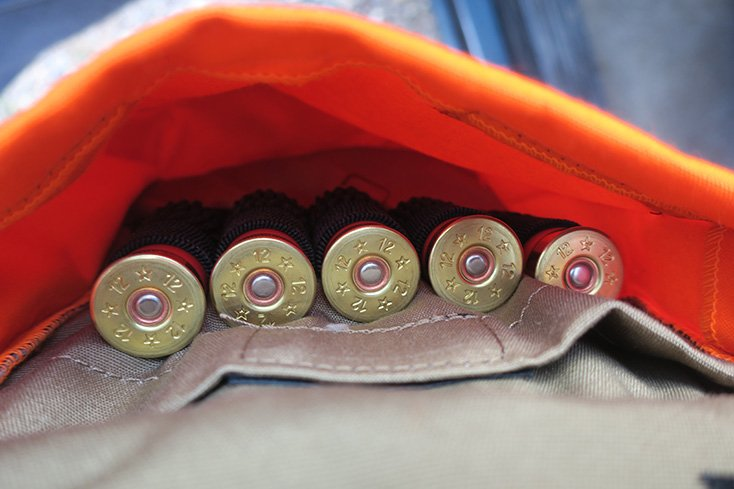 Shotgun Shells inside Orvis Hunting Vest