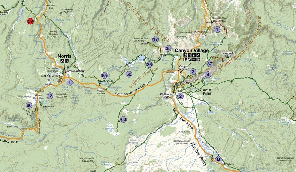 Yellowstone GPS Map