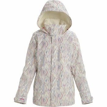 Womens White Snowboard Jacket Flower Print