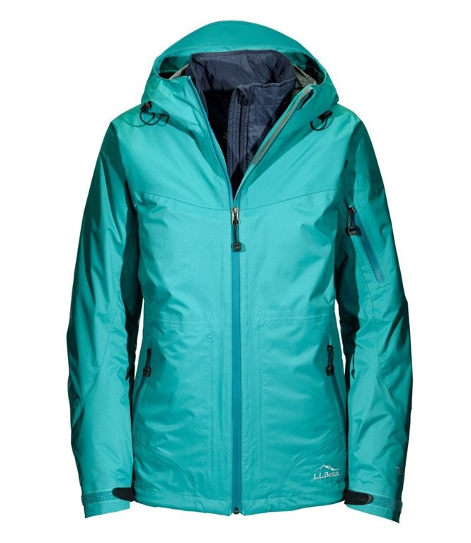 Ll Bean Womens Ski Jacket Teal