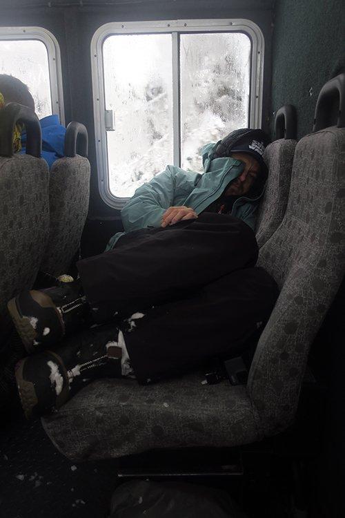 Sleeping in Snowcat