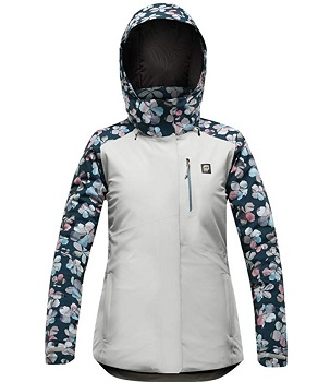 Womens Floral Pattern Snowboard Jacket
