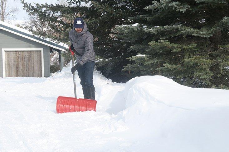 Shoveling Driveway Snow