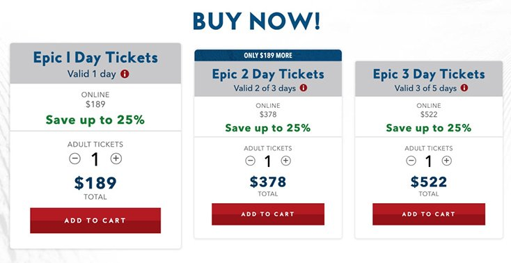 Vail Ticket Prices