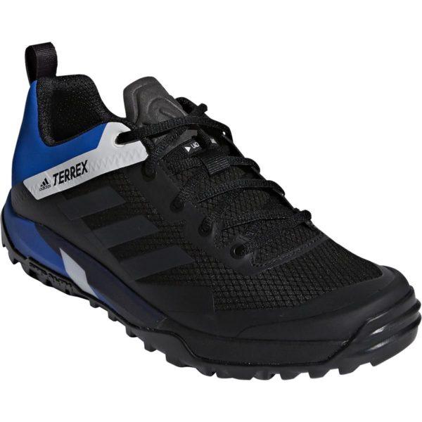 adidas terrex trail cross sl mountain bike shoe in black and blue