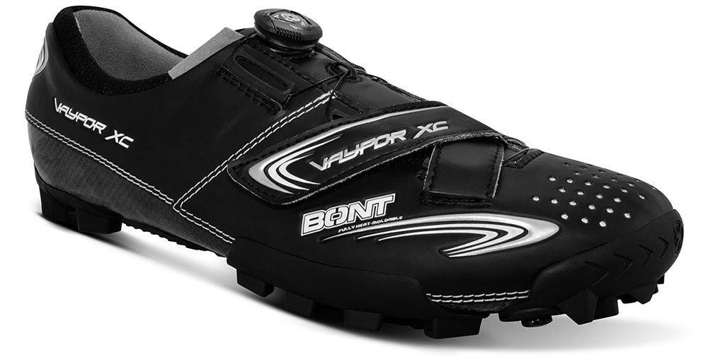 bont vaypor xc mountain bike shoe in black