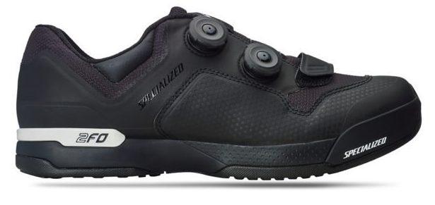 specialized 2fo sliplite mountain bike shoe in black