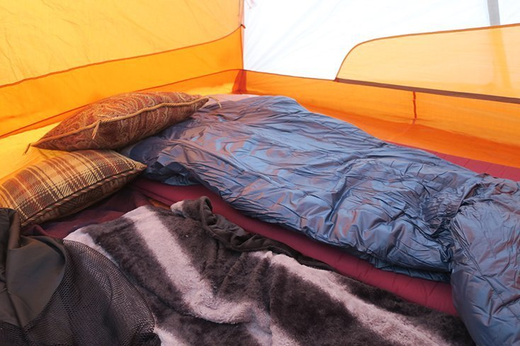 Inside of Tent with Sleeping Bags
