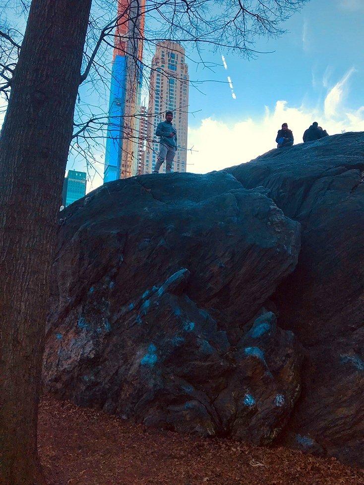 Climbing in Manhattan